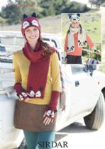 Sirdar Click DK - 7148 Helmets, Scarves, Hats and Wrist Warmers Knitting Pattern